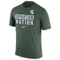 Michigan State Spartans Nike Nation Legend Local Verbiage Dri-FIT T-Shirt Green