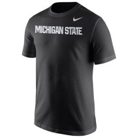 Michigan State Spartans Nike Wordmark T-Shirt Black