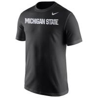 Michigan State Spartans Nike Wordmark T-Shirt Black