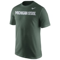 Michigan State Spartans Nike Wordmark T-Shirt Green