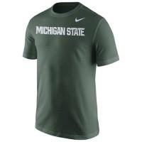 Michigan State Spartans Nike Wordmark T-Shirt Green