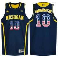 Michigan Wolverines #10 Tim Hardaway Jr. Navy College Basketball Jersey