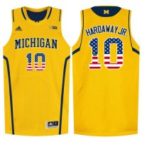Michigan Wolverines #10 Tim Hardaway Jr. Yellow College Basketball Jersey