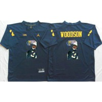 Michigan Wolverines #2 Charles Woodson Navy Blue Player Fashion Stitched NCAA Jersey