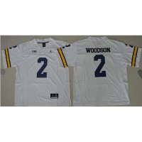 Michigan Wolverines #2 Charles Woodson White Jordan Brand Stitched NCAA Jersey