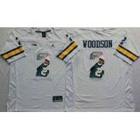 Michigan Wolverines #2 Charles Woodson White Player Fashion Stitched NCAA Jersey