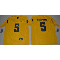 Michigan Wolverines #5 Jabrill Peppers Gold Jordan Brand Limited Stitched NCAA Jersey