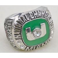 NCAA Miami Hurricanes World Champions Silver Ring_2