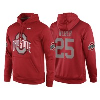 NCAA Ohio State Buckeyes #25 Mike Weber Jr. Red Playoff Bound Vital College Football Pullover Hoodie