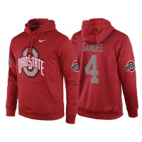 NCAA Ohio State Buckeyes #4 Curtis Samuel Red Playoff Bound Vital College Football Pullover Hoodie