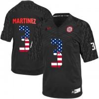 Nebraska Cornhuskers #3 Taylor Martinez Black USA Flag College Football Jersey