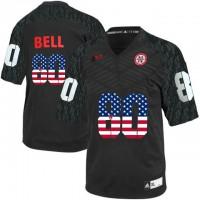 Nebraska Cornhuskers #80 Kenny Bell Black USA Flag College Football Jersey