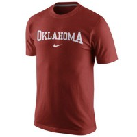 Nike Oklahoma Sooners College Wordmark T-Shirt Crimson