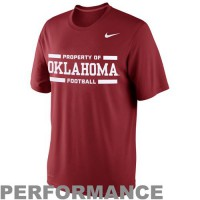 Nike Oklahoma Sooners Practice Legend Performance T-Shirt Crimson