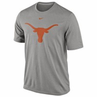 Nike Texas Longhorns Logo Legend Dri-FIT Performance T-Shirt Gray