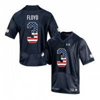 Norte Dame Fighting Irish #3 Michael Floyd Shamrock Series Black USA Flag College Football Jersey