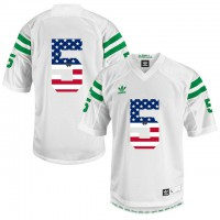 Norte Dame Fighting Irish #5 Everett Golson White USA Flag Under The Lights College Football Jersey