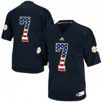 Norte Dame Fighting Irish #7 Stephon Tuitt Navy USA Flag Techfit College Football Jersey