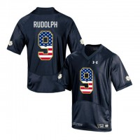 Norte Dame Fighting Irish #9 Kyle Rudolph Navy USA Flag College Football Jersey