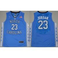 North Carolina #23 Michael Jordan Blue Stitched NCAA Jersey