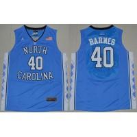 North Carolina #40 Harrison Barnes Blue Stitched NCAA Jersey