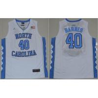 North Carolina #40 Harrison Barnes White Stitched NCAA Jersey