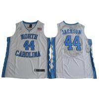 North Carolina #44 Justin Jackson White Basketball Stitched NCAA Jersey