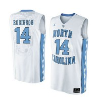 North Carolina Tar Heels #14 Brandon Robinson Customized White College Basketball Jersey