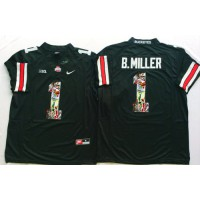 Ohio State Buckeyes #1 Braxton Miller Black Player Fashion Stitched NCAA Jersey