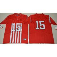 Ohio State Buckeyes #15 Ezekiel Elliott Red 1917 Throwback Limited Stitched NCAA Jersey