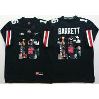 Ohio State Buckeyes #16 J. T. Barrett Black Player Fashion Stitched NCAA Jersey