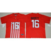 Ohio State Buckeyes #16 J. T. Barrett Red Alternate Elite Stitched NCAA Jersey