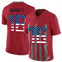 Ohio State Buckeyes #16 J.T Barrett Red USA Flag Alternate College Football Elite Jersey