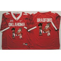 Oklahoma Sooners #14 Sam Bradford Red Player Fashion Stitched NCAA Jersey