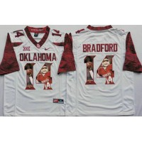 Oklahoma Sooners #14 Sam Bradford White Player Fashion Stitched NCAA Jersey