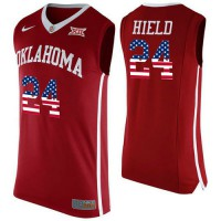 Oklahoma Sooners #24 Buddy Heild Red USA Flag College Basketball Jersey