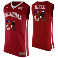 Oklahoma Sooners #24 Buddy Heild Red With Portrait Print College Basketball Jersey