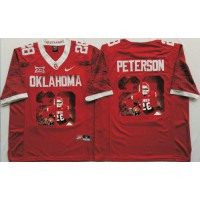 Oklahoma Sooners #28 Adrian Peterson Red Player Fashion Stitched NCAA Jersey