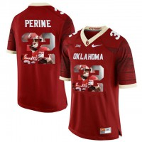 Oklahoma Sooners #32 Samaje Perine Red With Portrait Print College Football Jersey