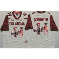 Oklahoma Sooners #44 Brian Bosworth White Player Fashion Stitched NCAA Jersey