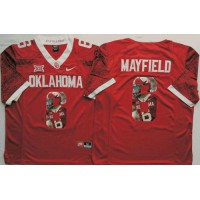 Oklahoma Sooners #6 Baker Mayfield Red Player Fashion Stitched NCAA Jersey