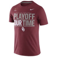 Oklahoma Sooners Nike 2016 College Football Playoff Bound Our Time T-Shirt Crimson