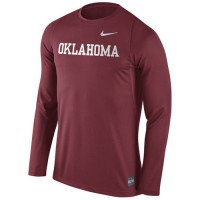 Oklahoma Sooners Nike 2016 Elite Basketball Shooter Long Sleeves Dri-FIT Top Crimson