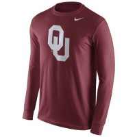 Oklahoma Sooners Nike Cotton Logo Long Sleeves T-Shirt Crimson