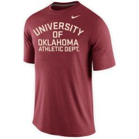 Oklahoma Sooners Nike Launch Performance T-Shirt Crimson