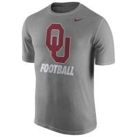 Oklahoma Sooners Nike Sideline Legend Logo Performance T-Shirt Heather Gray