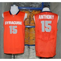 Orange #15 Carmelo Anthony Orange Basketball Stitched NCAA Jersey
