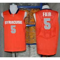 Orange #5 C.J. Fair Orange Basketball Stitched NCAA Jersey