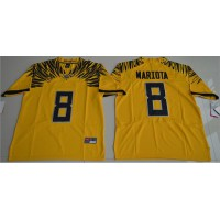 Oregon Ducks #8 Marcus Mariota Yellow Limited Stitched NCAA Jersey