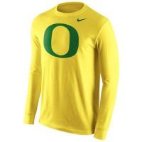 Oregon Ducks Nike Cotton Logo Long Sleeves T-Shirt Yellow